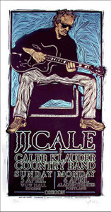 J.J. Cale Concert Gig Poster Portland 2009 Original SN 150 by Gary Houston.