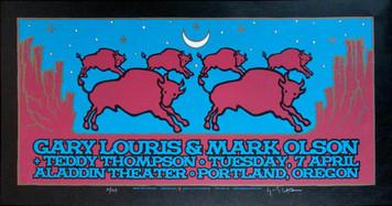 Gary Louris Poster Original Signed Silkscreen by Gary Houston