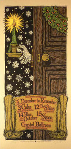 Cake Poster the Shins December to Remember Signed Silkscreen Gary Houston
