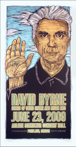 David Byrne Poster Brian Eno Original Signed Silkscreen by Gary Houston