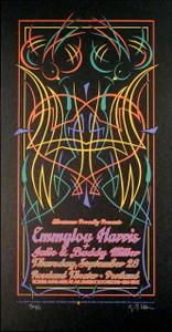 Emmylou Harris Poster Original Signed Silkscreen by Gary Houston 2007