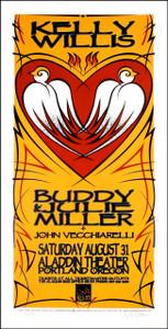 Kelly Willis Poster Buddy & Julie Miller Original Signed Silkscreen Gary Ho