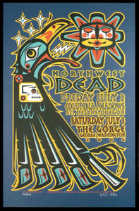 The Dead 2004 Northwest Tour Poster The Gorge Original Signed Silkscreen Ga