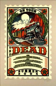 The Dead Poster Summer Tour 2004 Original Signed Silkscreen Concert Poster
