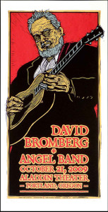 David Bromberg & the Angel Band Poster Signed Silkscreen Gary Houston
