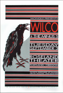 Wilco Minus 55 Poster Original Signed Silkscreen by Gary Houston