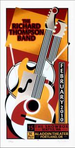 Richard Thompson Band 2010 Poster Original Signed Silkscreen Gary Houston