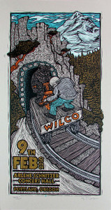 Wilco at Poster Original Signed Silkscreen by Gary Houston 2010