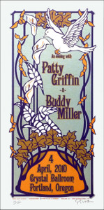 Patty Griffin & Buddy Miller Poster Original Signed Silkscreen by Gary Hous
