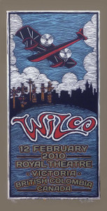 Wilco Poster Royal Theater Original Signed Silkscreen by Gary Houston 2010