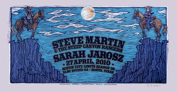 Steve Martin Steep Canyon Rangers Poster Austin City Limits Original Silksc