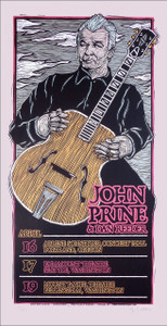 John Prine Northwest Tour 2010 Poster Original Signed Silkscreen