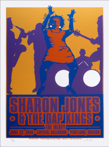 Sharon Jones & Dap Kings Poster Original Signed Silkscreen by Gary Houston