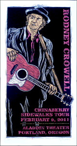 Rodney Crowell Poster Original Signed Silkscreen by Gary Houston n