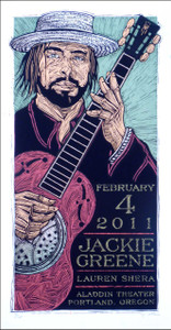 Jackie Greene Original 2011 Silkscreen Poster Hand-Signed Gary Houston