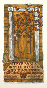 Steve Earle Allison Poster Original Signed Silkscreen by Gary Houston