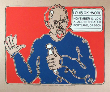 Louis C.K. Poster Original Signed Silkscreen by Gary Houston