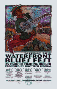 Waterfront Blues Festival Poster 2012 Original Signed Silkscreen Gary Houst