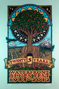 "Waterfront Blues Poster 2012 Special Edition ""Tree"" Original Signed Silkscr"