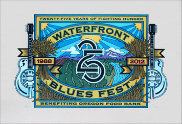 Waterfront Blues Poster 2012 Special Edition ñFruitboxî Signed Silkscreen