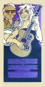 Emmylou Harris Steve Martin Poster Original Signed Silkscreen Gary Houston
