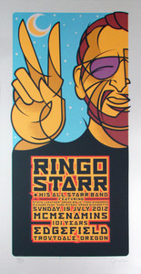 Ringo Starr & His All Starr Band Poster Original Signed Silkscreen Gary Hou