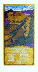 Woodyfest Poster Woody Guthrie 100th Bday Country Joe Signed Silkscreen