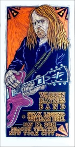 Warren Haynes Band Poster William Bell Beacon Theater Signed Silkscreen