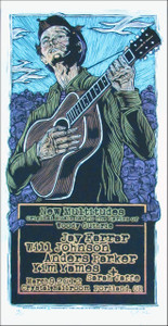 Woody Guthrie New Multitudes Jay Farrar Signed Silkscreen Poster Houston