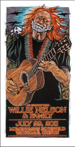 Willie Nelson & Family Poster 2011 Original Signed Silkscreen by Gary Houst