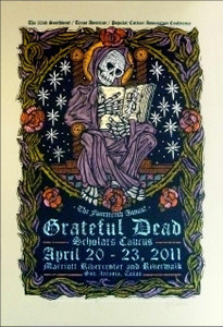Grateful Dead 2011 ScholarÍs Caucus Poster Signed Silkscreen Gary Houston