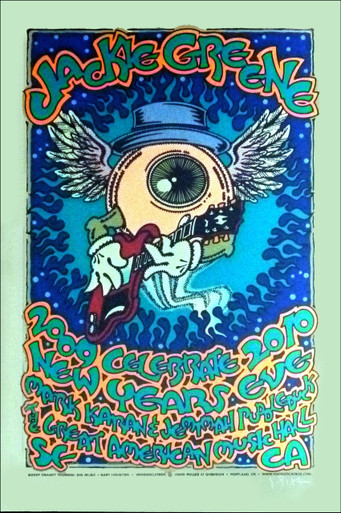 Jackie Greene Poster 2009 New Year's Eve Silkscreen Signed Gary Houston