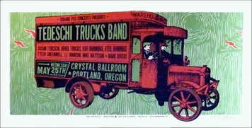 Tedeschi Trucks Band Original Silkscreen Poster s/n 105 by Gary Houston