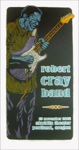 Robert Cray Band Poster Original Silkscreen Edition 155 Signed Gary Houston