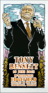 Tony Bennett Poster Original Signed Numbered Silkscreen by Gary Houston