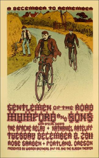 Mumford & Sons Gentlemen of the Road Tour Signed Silkscreen Gary Houston