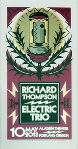 Richard Thompson Electric Trio Poster Signed Silkscreen by Gary Houston
