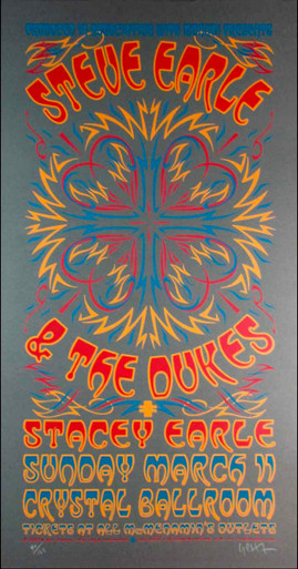 Steve Earle & the Dukes Stacey Earle Signed Silkscreen by Gary Houston