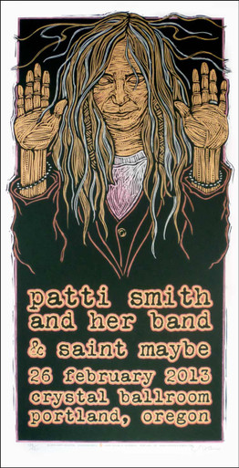 Patti Smith and Her Band Poster Original Signed Silkscreen by Gary Houston