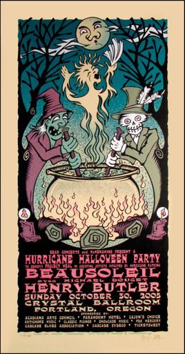 Beausoleil Poster Original Hand-Signed Silkscreen by Gary Houston 2005