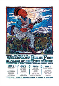 Waterfront Blues Festival 2013 Original Signed Silkscreen Concert Poster