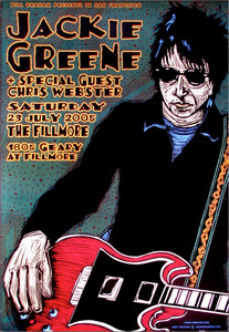 Jackie Greene Poster Chris Webster Fillmore 2005 by Gary Houston