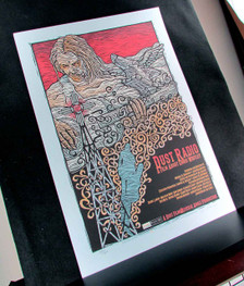 Dust Radio Poster A Film About Chris Whitley Signed Silkscreen Gary Houston