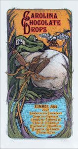 Carolina Chocolate Drops '14 Summer Tour Poster SN Silkscreen Gary Houston