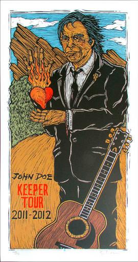 John Doe Keeper Tour Poster 2011-2012 Original SN Silkscreen Gary Houston