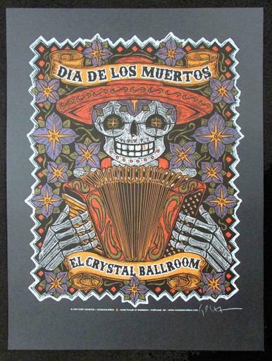 Dia De Los Muertos (Day of the Dead) Poster Original Signed Silkscreen Gary