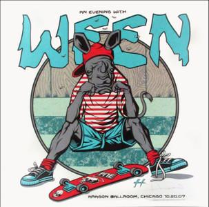 Ween Concert Poster Aragon Chicago Just 150 Hand-Signed Justin Hampton