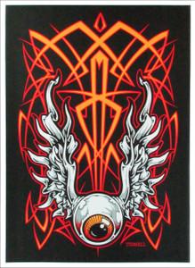 Flyin' Eyeball Original 1st Print Silkscreen Poster Signed Jeral Tidwell