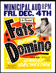 Fats Domino Orchestra Poster Municipal Auditorium Atlanta 2nd Printing