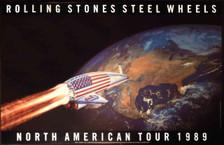 "Rolling Stones ""Steel Wheels"" Original 1989 US Tour Poster Brockum NM"